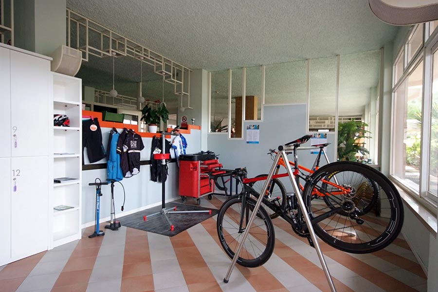 Bicycle storage and small workshop
